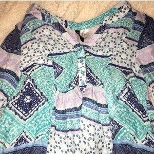H&M Blue Medley Patterned Blouse